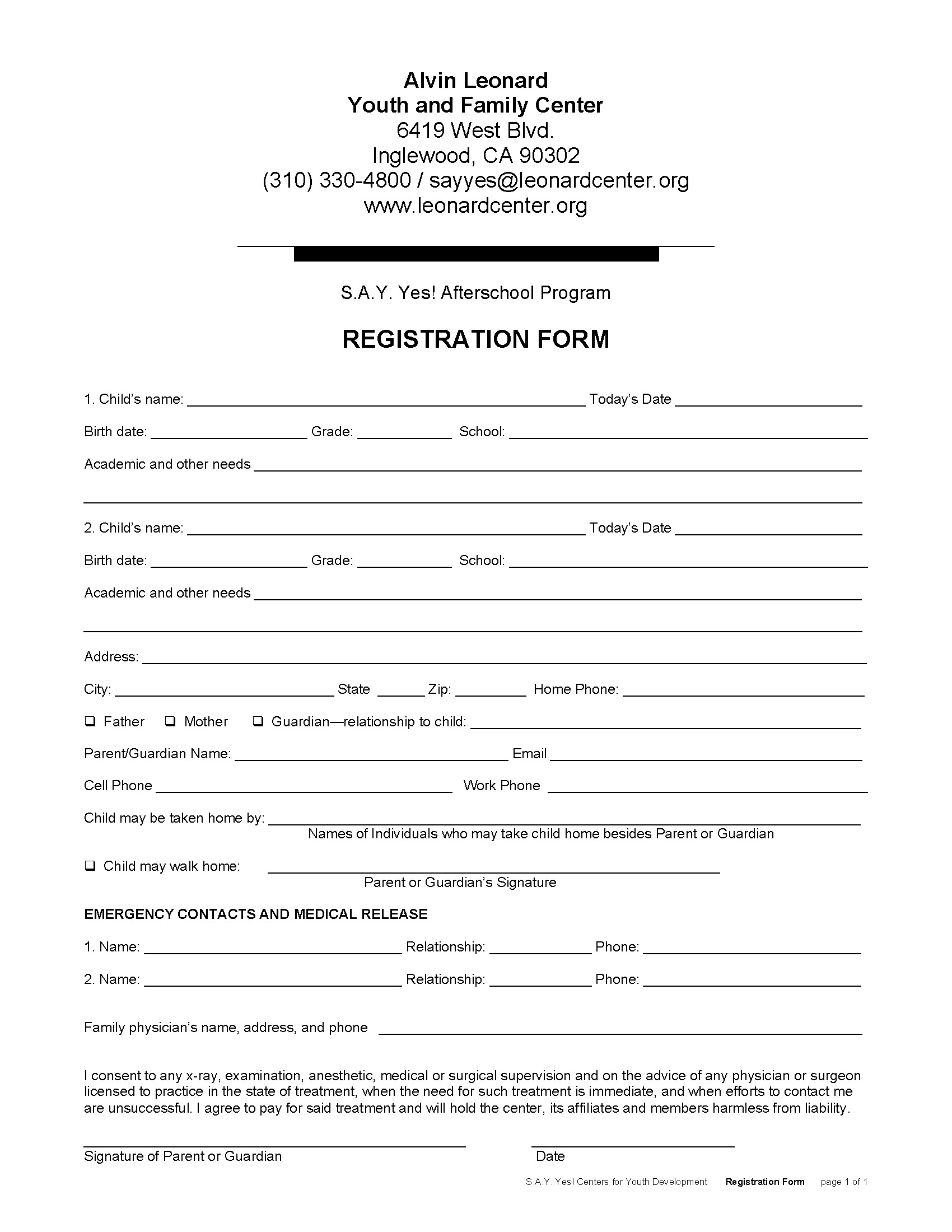 Students Registration Form Template Registration Form Template